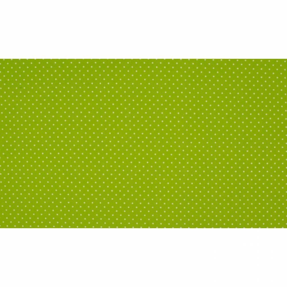 7,50EUR/m Baumwoll-Webware small dots in lime Punkte Bild 1