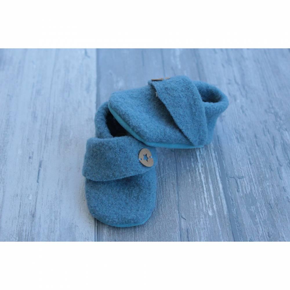 Walkschuhe Babypuschen Smoky Blau Schuhgröße 14/15 Bild 1