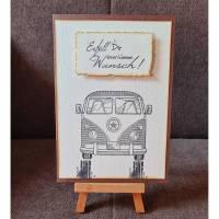 """Geburtstagkarte """" Erfüll dir einen kleinen Wunsch """" Auto Bild 1"""