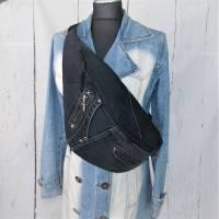 Umhängetasche, Jeans Upcycling,  Recycling, Tasche aus Jeans, Bild 1