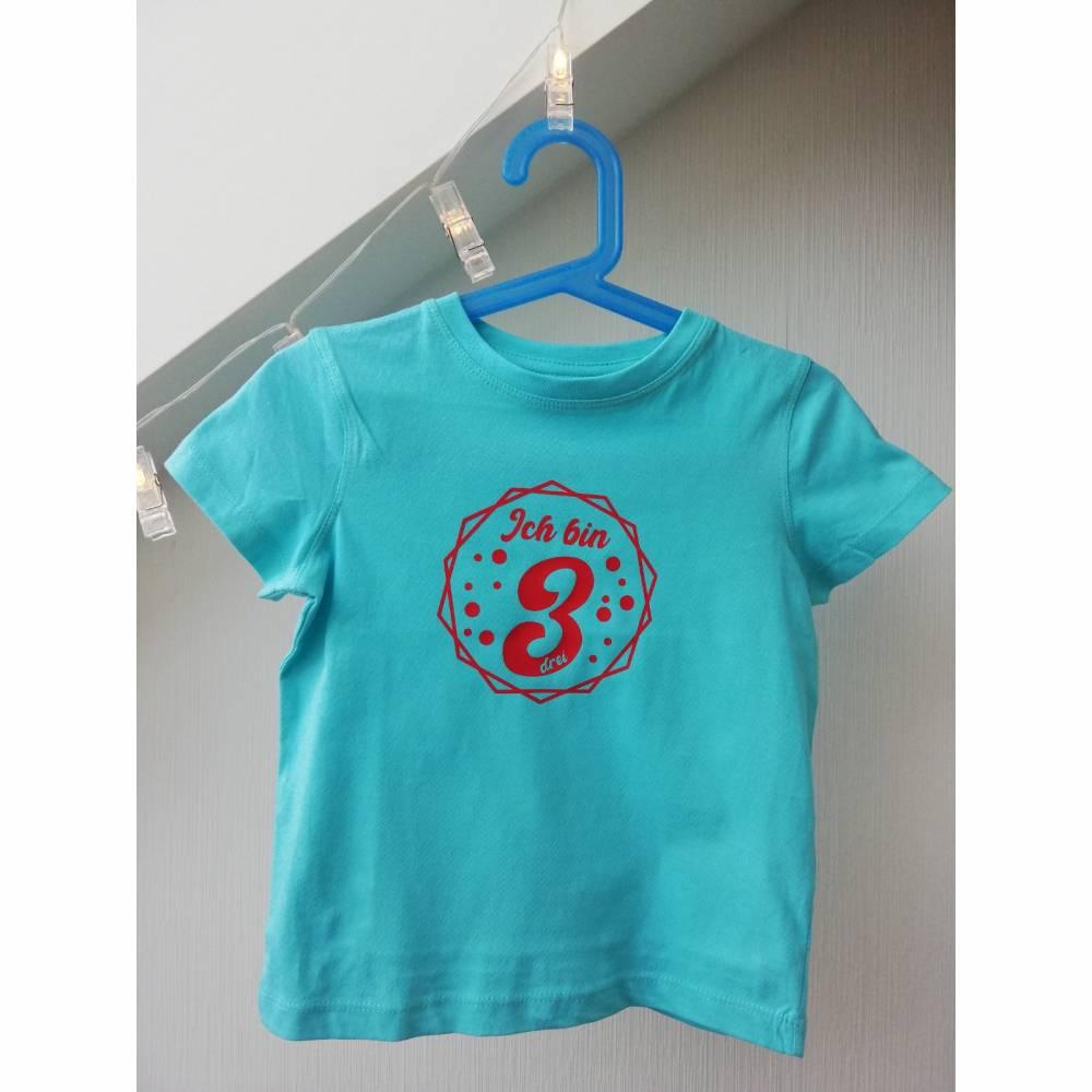 Geburtstagsshirt für Kinder mit Zahl Bild 1