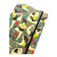 "Notizbuch ""Inner Peace/Green"" Blanko Hardcover stoffbezogen A5 Yoga Yogafan Yogini Geschenk Geschenkidee  Bild 1"