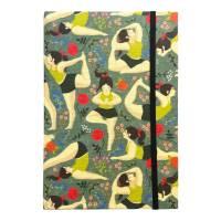 "Notizbuch ""Inner Peace/Green"" Blanko Hardcover stoffbezogen A5 Yoga Yogafan Yogini Geschenk Geschenkidee  Bild 2"
