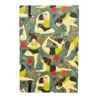 "Notizbuch ""Inner Peace/Green"" Blanko Hardcover stoffbezogen A5 Yoga Yogafan Yogini Geschenk Geschenkidee  Bild 3"