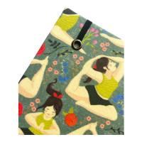 "Notizbuch ""Inner Peace/Green"" Blanko Hardcover stoffbezogen A5 Yoga Yogafan Yogini Geschenk Geschenkidee  Bild 4"