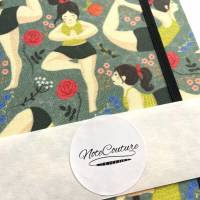 "Notizbuch ""Inner Peace/Green"" Blanko Hardcover stoffbezogen A5 Yoga Yogafan Yogini Geschenk Geschenkidee  Bild 7"