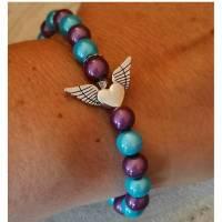 Wunscharmband    mit eingearbeitetem Engel           Bild 1