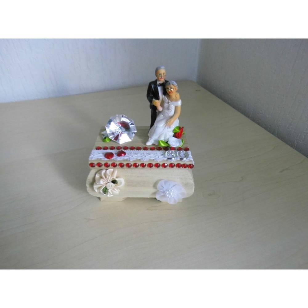 Dekoration Geldgeschenk  Diamantene Hochzeit 60 Jahre verheiratet - Diamanthochzeit - Geschenkidee Bild 1