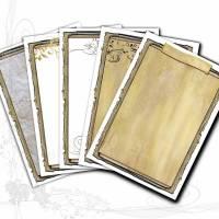Digitales Vorlagen-Set für selbstgemachtes Briefpapier *Rustikal DIY 001*, entworfen von Alanja