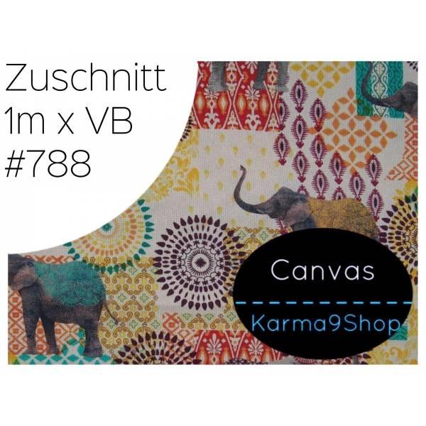 Zuschnitt Canvas Indian Elephant #788 Bild 1
