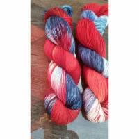 Handgefärbte Wolle, 75% Schurwolle (BFL), 25% Polyamid (Sockenwolle), Superwash Bild 1