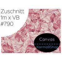 Zuschnitt Canvas Tropical Leaf pink #790 Bild 1