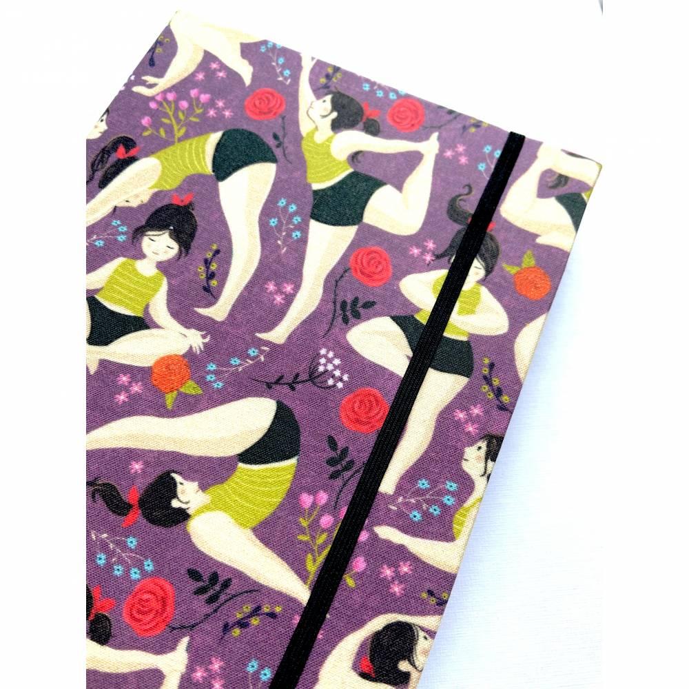 "Notizbuch ""Inner Peace "" Blanko Hardcover stoffbezogen A5 Yoga Yogafan Yogini Geschenk Geschenkidee Fanartikel Bild 1"