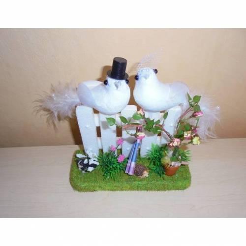 Geldgeschenk Hochzeit Brautpaar - Tauben auf dem Zaun Geschenkidee