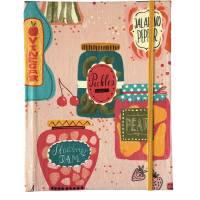 """Notizbuch Rezeptbuch """"Jars&Bottles"""" ähnlich A5 17,5 x 23 cm Hardcover stoffbezogen Einmachen Einmachgläser Küche Kochen Hobbykoch Rezepte Geschenk Geschenkidee Bild 2"""