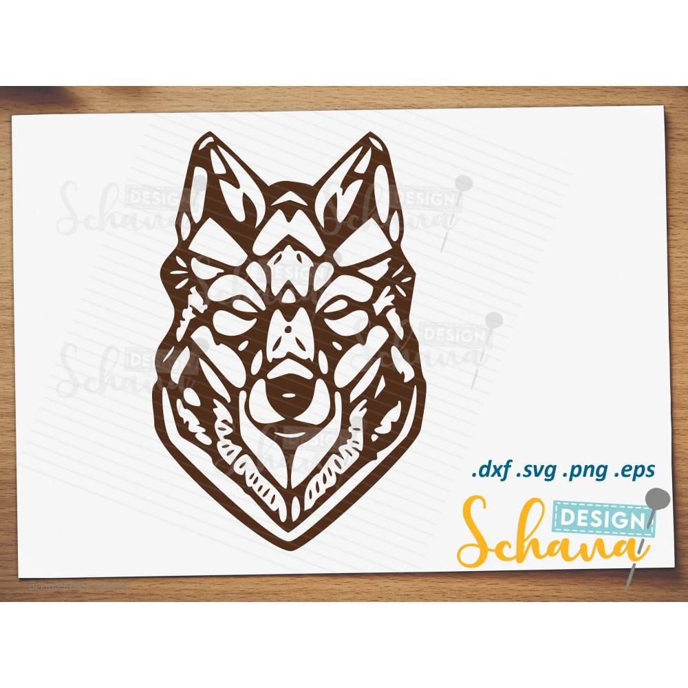Hund Wolf Husky Plotterdatei  EPS SVG DXF png Digistamp  Plotter Tattoo Bügelbild Plotterdatei cooler Hundekopf Tierliebhaber Hunde Datei Bild 1