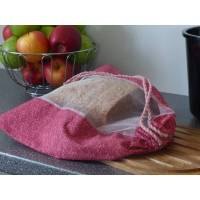 Brotbeutel, Einkaufsbeutel, großer Obstbeutel Rot/Rosa