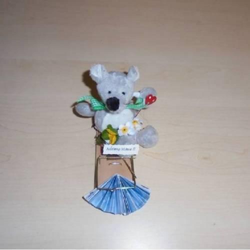 Achtung Mäuse Geldgeschenk Mausefalle Geld zur Konfirmation ,Kommunion - Unikat
