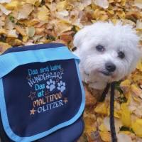 "Gassitasche personalisiert ""Hundehaare Glitzer"" bestickt in 4 Farben Bild 1"