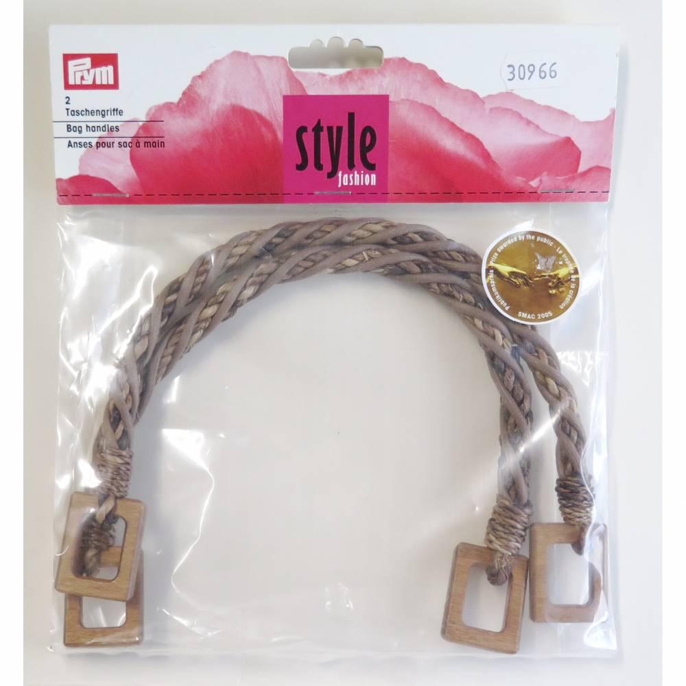 """PRYM ® Taschengriffe """"Madeleine"""" geflochtene Abaca-Fasern Bild 1"""