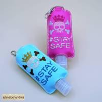 Gesticktes Desinfektionsmittelflaschen - Etui STAY SAFE Bild 1