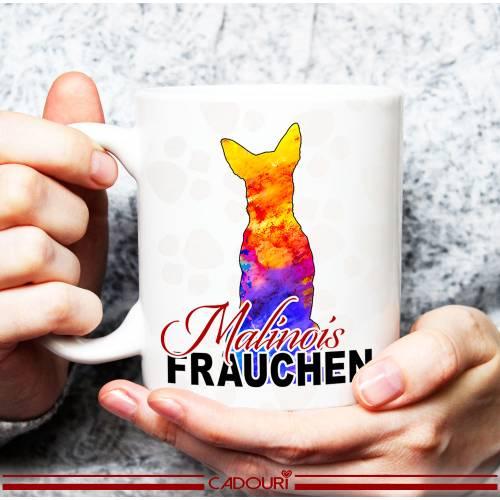Hunde-Tasse MALINOIS FRAUCHEN mit Hunderasse┊Kaffeetasse Bürotasse┊tolle Geschenkidee für Hundebesitzer