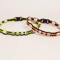 EM-Keramik Halsband aus Paracord mit Namen des Hundes, wahlweise Klickverschluss oder Kordelstopper Bild 4