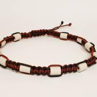 EM-Keramik Halsband aus Paracord mit Schiebeknoten Bild 1