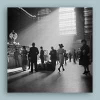 New York Grand Central Station I.- Kunstdruck Poster ungerahmt -  Fotokunst - schwarz-weiss Fotografie Vintage Bild 1