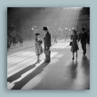 New York Grand Central Station II.- Kunstdruck Poster ungerahmt -  Fotokunst - schwarz-weiss Fotografie Vintage Bild 1