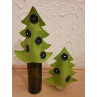 2er Set * Weihnachtsbaum aus Filz * Upcycling aus Kaffeekapseln * hellgrün * Geschenkverpackung Bild 1