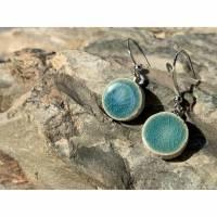 Ohrringe Ohrhänger Keramik Keramikschmuck Pure Ozean Tiefseeblau Bild 1