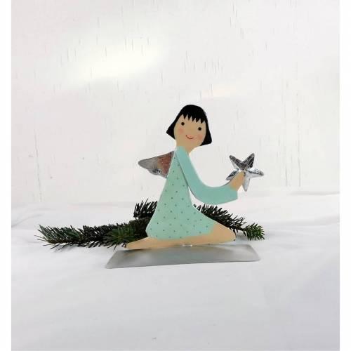 Weihnachtsdeko Engel modern mit Stern, Material