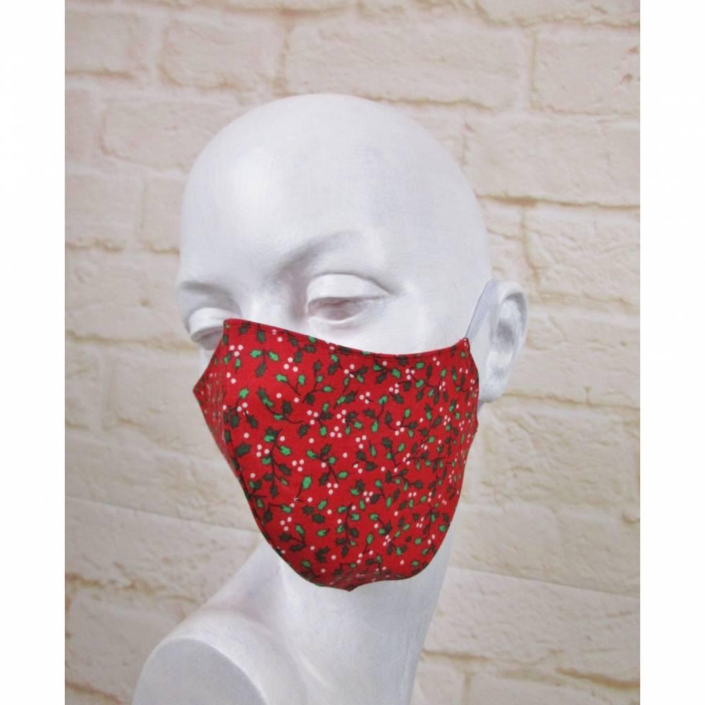 Weihnacht Mundmaske Staubmaske Gesichtsmaske Maritim Mini Anker Rot Weiß Illex Maske Baumwolle Behelfsmaske Bild 1