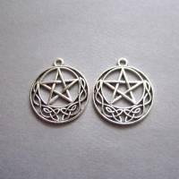 2x Anhänger Keltischer Knoten Pentagramm Bild 1