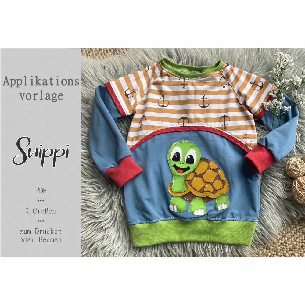 Applikationsvorlage Schildkröte Snippi Bild 1