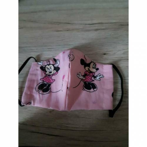 """Mundschutz für Kinder / Teenies Gr. M """"Minnie Mouse, widerverwendbar aus Baumwolle,"""