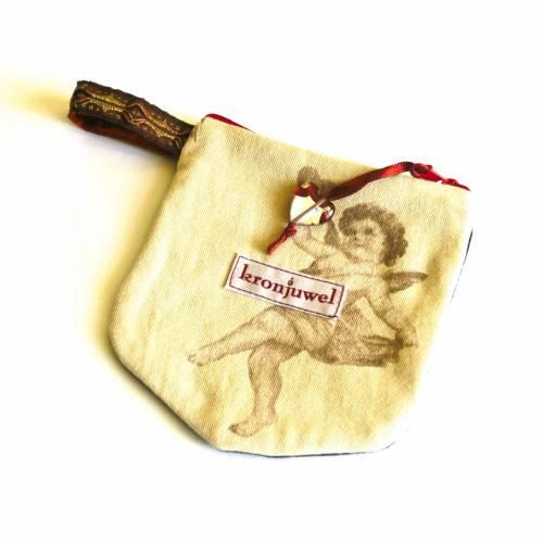 Upcycling Täschchen - Engelchen -  Geldbörse Kopfhörertasche...