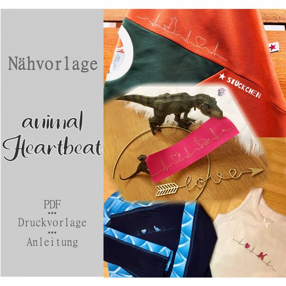 Nähvorlage animal heartbeat Bild 1
