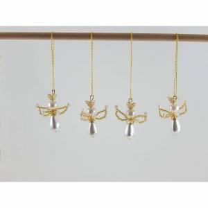 4 kleine Engel Schutzengel Glückbringer Baumanhänger Mitbringsel Gastgeschenke Beschützer