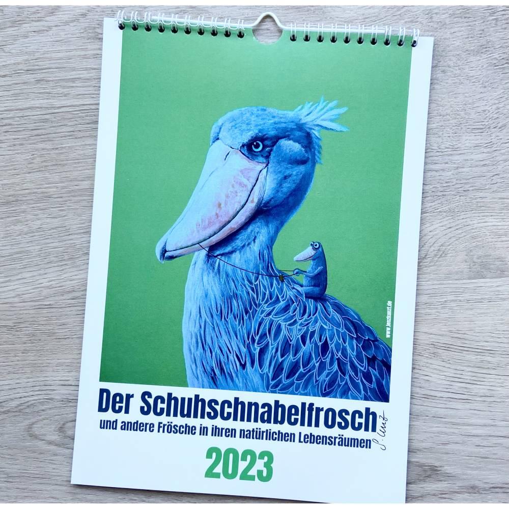 Kunztdruck-Froschkunzt-Kalender 2022, Kalender, Wandkalender, Kalender A4, lustiger Kalender, Froschkalender, Frosch Kal Bild 1
