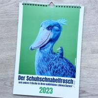 Kunztdruck-Froschkunzt-Kalender 2021, Kalender, Wandkalender, Kalender A4, lustiger Kalender, Froschkalender, Frosch Kalender, Geschenk Bild 1
