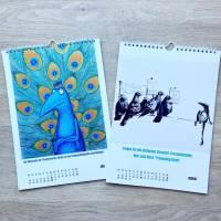 Kunztdruck-Froschkunzt-Kalender 2021, Kalender, Wandkalender, Kalender A4, lustiger Kalender, Froschkalender, Frosch Kalender, Geschenk Bild 2