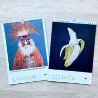 Kunztdruck-Froschkunzt-Kalender 2021, Kalender, Wandkalender, Kalender A4, lustiger Kalender, Froschkalender, Frosch Kalender, Geschenk Bild 3