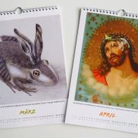 Kunztdruck-Froschkunzt-Kalender 2022, Kalender, Wandkalender, Kalender A4, lustiger Kalender, Froschkalender, Frosch Kal Bild 3