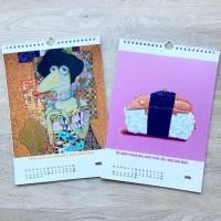 Kunztdruck-Froschkunzt-Kalender 2021, Kalender, Wandkalender, Kalender A4, lustiger Kalender, Froschkalender, Frosch Kalender, Geschenk Bild 4