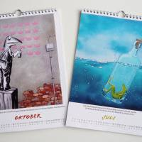 Kunztdruck-Froschkunzt-Kalender 2022, Kalender, Wandkalender, Kalender A4, lustiger Kalender, Froschkalender, Frosch Kal Bild 6