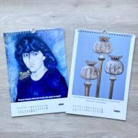 Kunztdruck-Froschkunzt-Kalender 2022, Kalender, Wandkalender, Kalender A4, lustiger Kalender, Froschkalender, Frosch Kal Bild 7