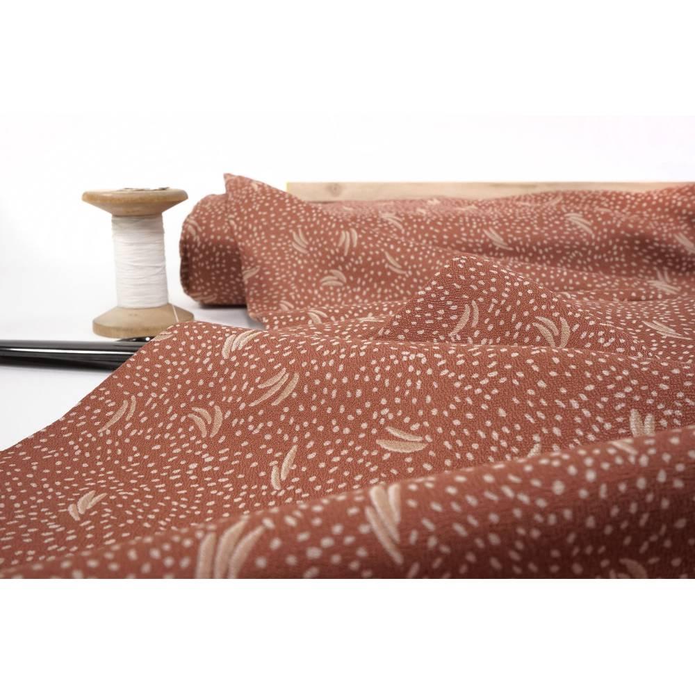 Viskose Krepp Dune Chestnut Fabric by Atelier Brunette 0,5m  Bild 1