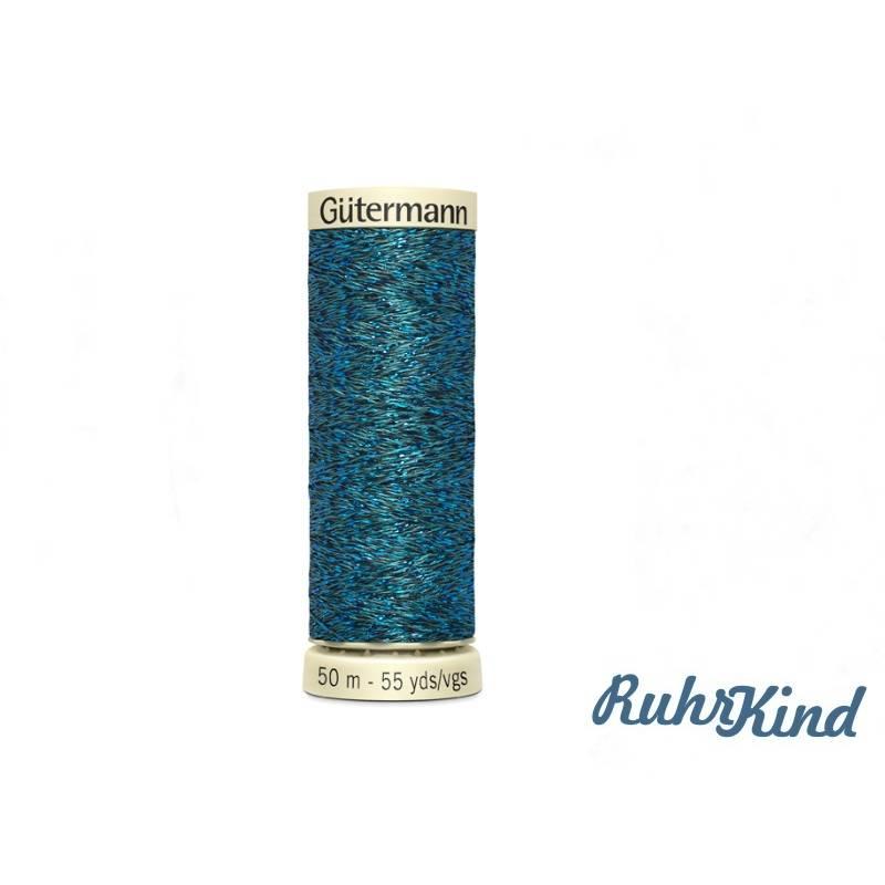 Gütermann Metalleffekt Garn - 50m - Grün Blau Bild 1